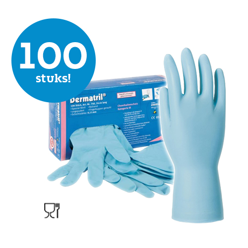 KCL Dermatril 740, Gants a usage unique en nitrile, 100 pieces