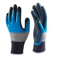 Showa 376 Nitrile Foam Grip Bleu/Noir